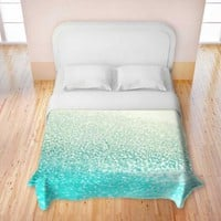 Duvet Cover Brushed Twill from DiaNoche Designs by Monika Strigel Home Décor and Bedroom Ideas - Gatsby Mint