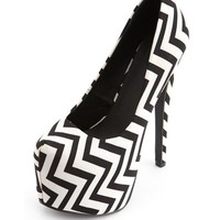 Chevron Canvas Uber Platform Pump