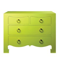 Bungalow 5 Jacqui 4 Drawer Chest in Green