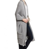 Cashmere Cocoon Pocketed Cardigan | Calypso St. Barth