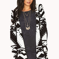 Blurred Lines Hooded Cardigan