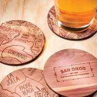 Coasters with Maps by Neighborwoods