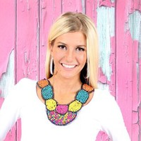 Painted With Color Bib Necklace - Modern Vintage Boutique