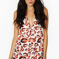 Nasty Gal Hot Kisses Tank