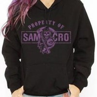 Sons Of Anarchy Girls Hoodie - Property Of SAMCRO