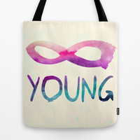 Forever Young Tote Bag by Jacqueline Maldonado