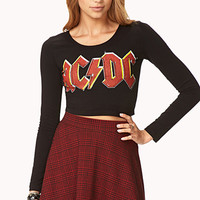 Favorite AC/DC Crop Top