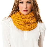 The Lofty Ribbed Scarf in Mustard