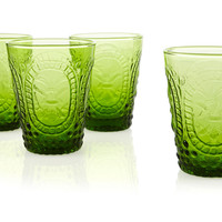 S/4 Embossed DOF Glasses, Green