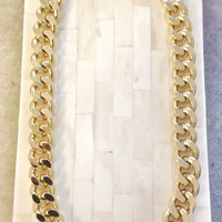 Chunky Chain Necklace 18K Gold Plated Thick Statement Michael Kors Marc Jacobs Celebrity Inspired
