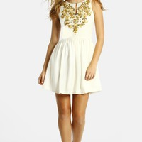 LABEL by five twelve Embroidered Fit & Flare Dress | Nordstrom