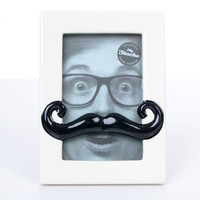 SALE! White & Black Mustache Frame