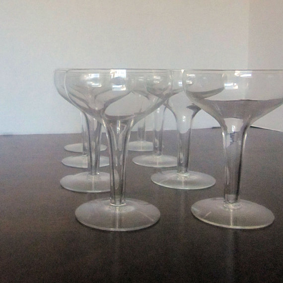 Vintage hollow stem champagne coupe from jeannette m vintage - Champagne flutes hollow stem ...