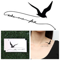 Hitchhiking - Temporary Tattoo (Set of 2)