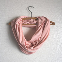 Light Pink Infinity Scarf - Light Pink Scarf- Holiday Accessories