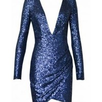 Electric Blue sequin dress