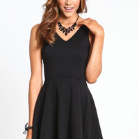 LITTLE BLACK SKATER DRESS