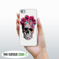 iPhone 5 iPhone 5S Flower Geometric Skull / Hard Case for iPhone 5 Plastic or Rubber Trim
