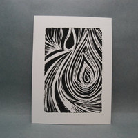 Tears of Water  Linocut Print by kellismprints on Etsy