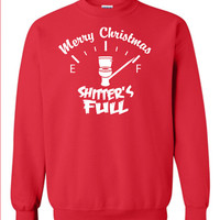 Merry CHRISTMAS ya filthy animal Shitters FULL Christmas Vacation 8-bit Chevy Chase funny retro movie xmas ugly sweater sweatshirt ML-185S