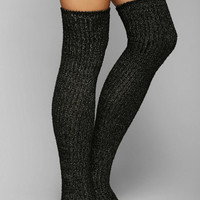 Fuzzy Lurex Over-The-Knee Sock - Urban Outfitters