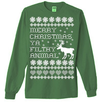 Merry Christmas Ya Filthy Animal Ugly Christmas Sweater T-Shirt