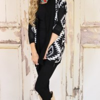Black and White Event Sweater - Modern Vintage Boutique