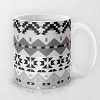 Black And White Aztec Mug by Ornaart