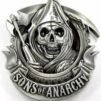 Sons Of Anarchy Belt Buckle - Reaper Logo