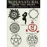 Supernatural Runes Temporary Tattoos