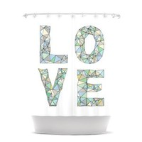 Kess InHouse Skye Zambrana Four Letter Word Shower Curtain, 69 by 70-Inch
