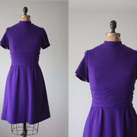 1960's dress purple mod dress by Thrush on Etsy