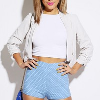 Blue Polka Dot Shorts