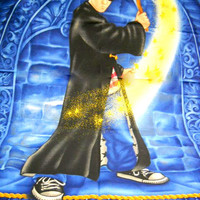 Harry Potter Quilt Panel, Warner Bros 2001, Cotton Fabric, Sewing Supplies