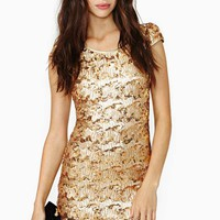 Rare London Sun Glitter Sequin Dress