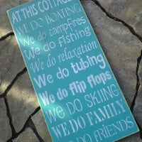 Wooden Sign At This Cottage  by dressingroom5 on Etsy