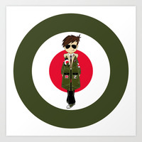 Cool Sixties Mod Illustration Art Print by markmurphycreative