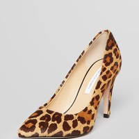 DIANE von FURSTENBERG Pointed Toe Pumps - Anette Leopard High Heel