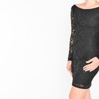 Jump Apparel NEW Juniors Sexy Black Lace Bodycon Party Club Cocktail Dress Sz XS