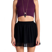 Ribbed Crop Tank - Plum