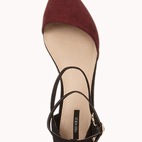 Sleek Asymmetrical D'Orsay Flats