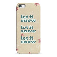 let it snow iPhone & iPod case by Sylvia | Casetagram