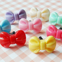 Sweet bow earphone plug