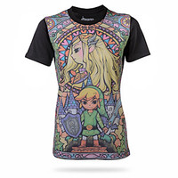 Hyrule's Stained Glass Ladies' Tee