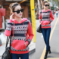 Cute Pullover Hoodies with Front Pocket