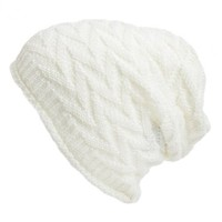 David & Young Chevron Knit Beanie (Juniors) | Nordstrom