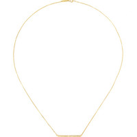18K Yellow Gold and Diamond Stick Necklace by Jennifer Meyer Now Available on Moda Operandi