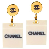 Chanel Shopping Bag Motif Earrings | 1stdibs.com