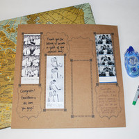 Photobooth Scrap Book Wedding Guest Book