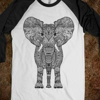 ** BLACK TIFFANY AZTEC ELEPHANT *** by Monika Strigel for skreened.com